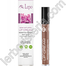 100% Natural Lip Cream Rossetto Liquido Mat Satin Tonalità 01 Nude