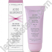 Acido Ialuronico BB Cream Crema Viso SPF 15 Trattamento Uniformante Anti-age 8 in 1