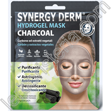 Synergy Derm Hydrogel Mask Charcoal Maschera Viso con Carbone Vegetale Collagene Acido Ialuronico