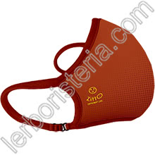 Zitto Mask Air Mascherina Filtrante Protettiva Antimicrobica Riutilizzabile Rust Orange