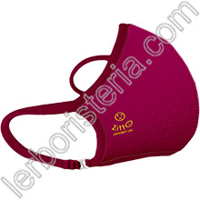 Zitto Mask Air Mascherina Filtrante Protettiva Antimicrobica Riutilizzabile Wine Red