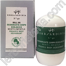Deodorante Corpo Biologico al Mirto Roll On - Ref. n° 40