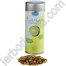 Twice Tisana Iced or Hot Kiwi e Lime Silver Tin