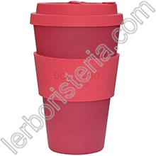 Ecoffee Cup Ecotazza Bambù Biodegradabile Pink'd