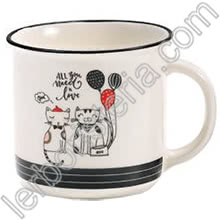 Tazza Mug Swinging Cats All You Need Is Love