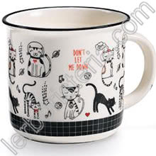 Tazza Mug Swinging Cats Don't Let Me Down